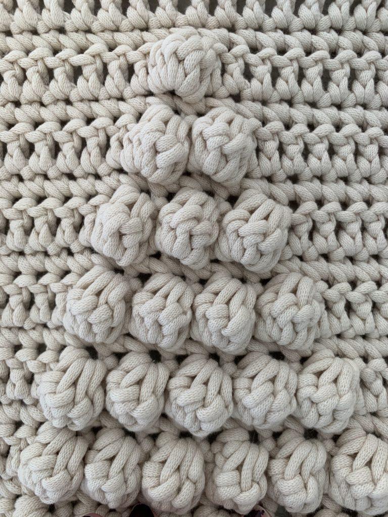 Bobble stitch creates great definition.