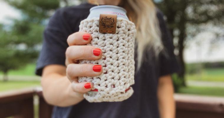 Free Crochet Pattern // Flat Lay Koozie